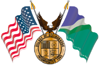 Bolingbrook Seal, American flag, eagle, Bolingbrook flag