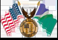Bolingbrook Seal, American flag, eagle, Bolingbrook flag